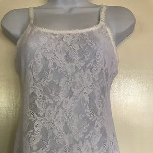 Calvin Klein , white lace camisole , size M
